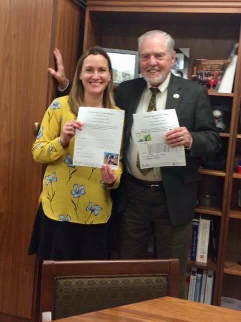 Karen and her legislator