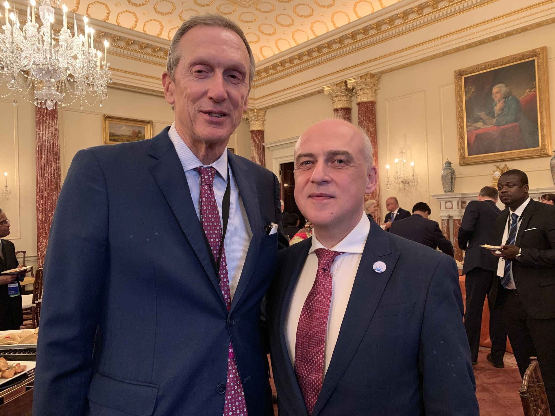 July 17: CEO Mark Levin with Foreign Minister of Georgia David Zalkaliani in the Ben Franklin Room at the State Department.