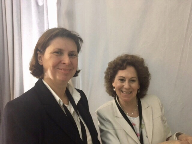 July 17: Monika Krawczyk, Chairwoman of the Union of Religious Communities of Poland, with Deputy Director Lesley Weiss at the State Department.