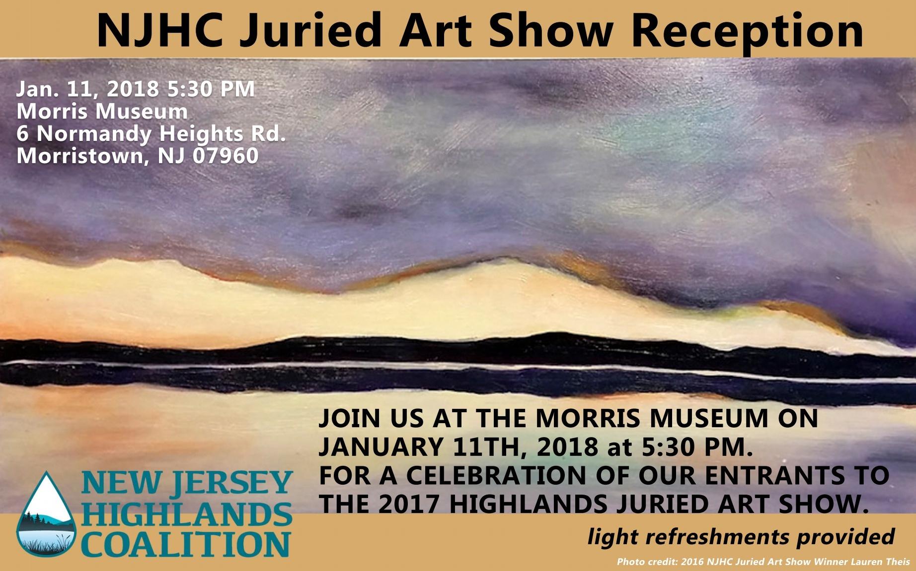 NJ Highlands Coalition Reception Notice