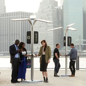 Solar Mobile Device Charging Station