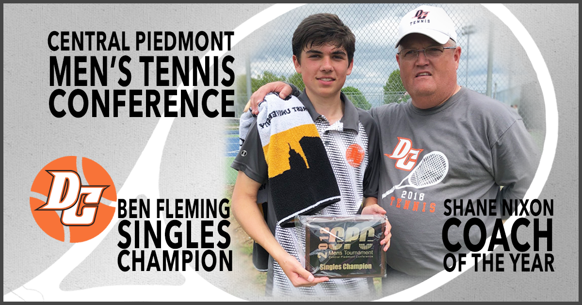 CPC Men's Tennis Singles Champion Ben Fleming and CPC Coach of the Year - Shane Nixon