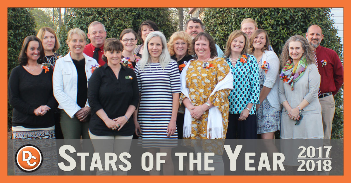 Davie County Schools Stars of the Year for 2017-18 Group Picture