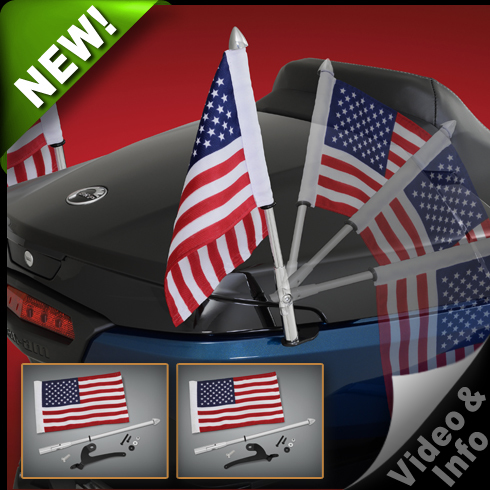 Folding Flag Poles For Can-Am Spyder RT and F3