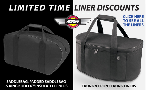 Saddlebag and Trunk Liners On Sale + Brand New Products