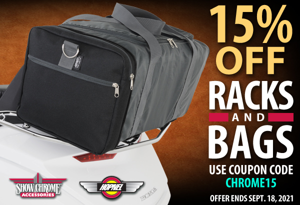 15% Off Racks And Bags
