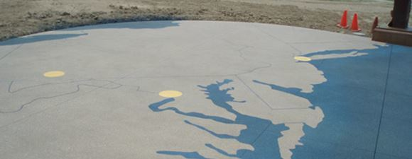Memorializing 9/11 with an Engraved Concrete Map