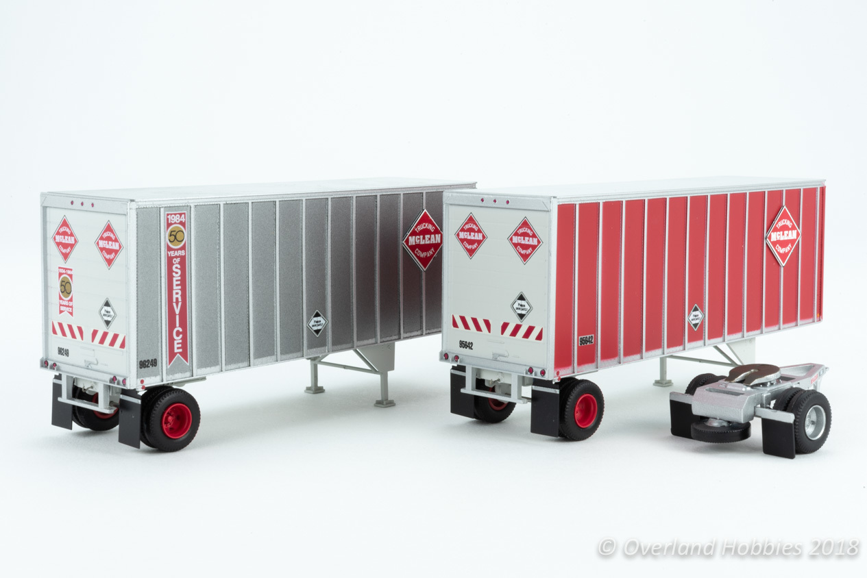 Athearn HO RTR 28  Trailers w//Dolly Owner-Operator#2 2 ATH69417