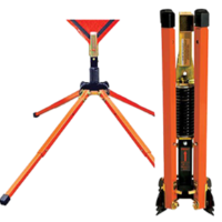 SINGLE SPRING  TELESCOPING STEEL SIGN STAND