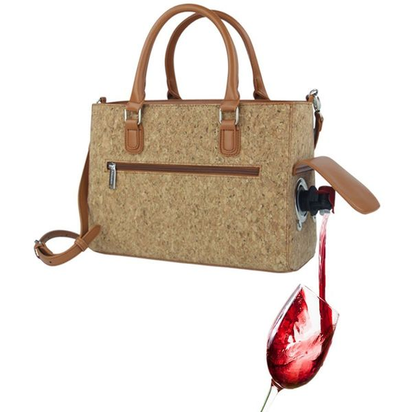 Cork Insulated Wine Purse