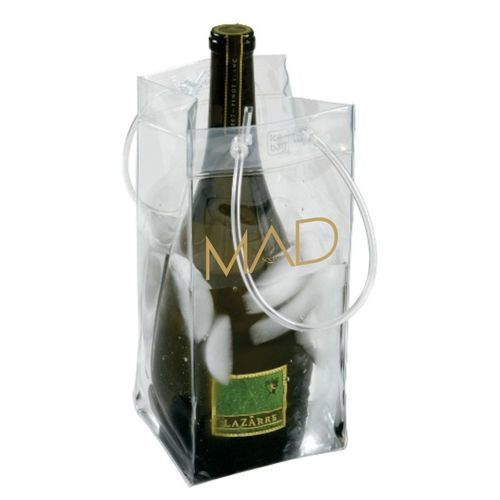 Ice Bag Collapsible Wine Cooler with Two Custom Imprints
