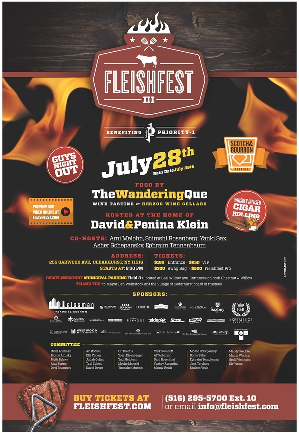 Fleishfest III will be tomorrow night, July 28th at the home of