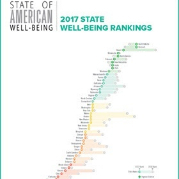 a chart of 2017 well-being state rankings