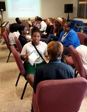 Agape students practicing the interview process
