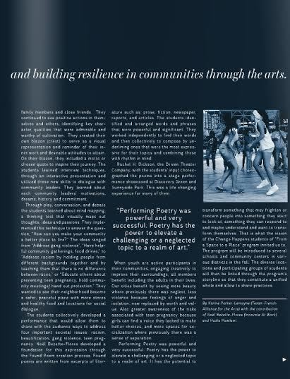 ArtHouston article on FASTAP Change Happens
