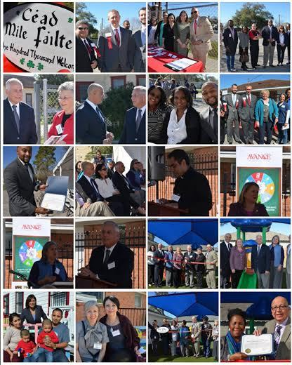 Photo collage of the officials present at the unveiling