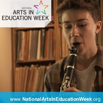 Americans for the Arts and Arts NC Arts in Education Week image of music student