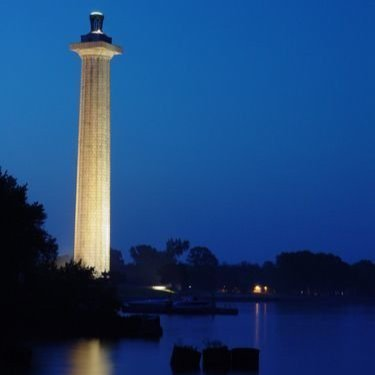 Perry's National Monument at Night