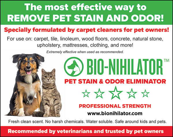 Bio-Nihilator pet stain and odor remover