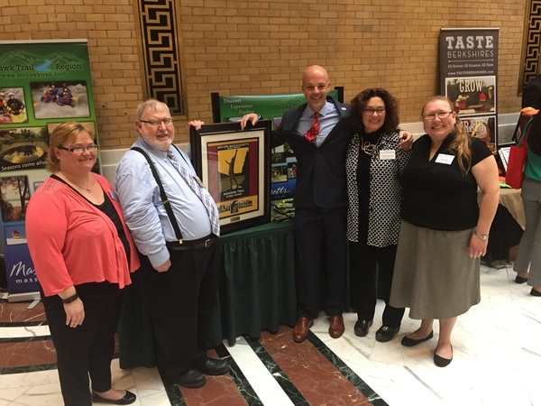Tourism Day with Adam Hinds, Peter Tomyl of Mohawk Trail Association, Carmela Lanza-Weil of GSFABA, Colleen Janz and Janine Vellucci.